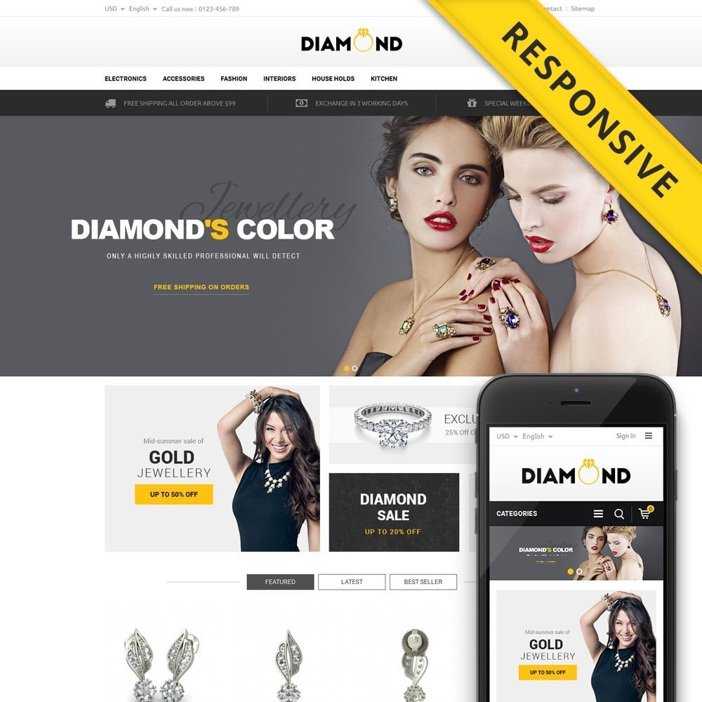 theme - Schmuck & Accesoires - Diamond Store - 1