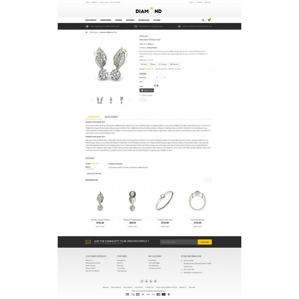 theme - Jewelry & Accessories - Diamond Store - 5