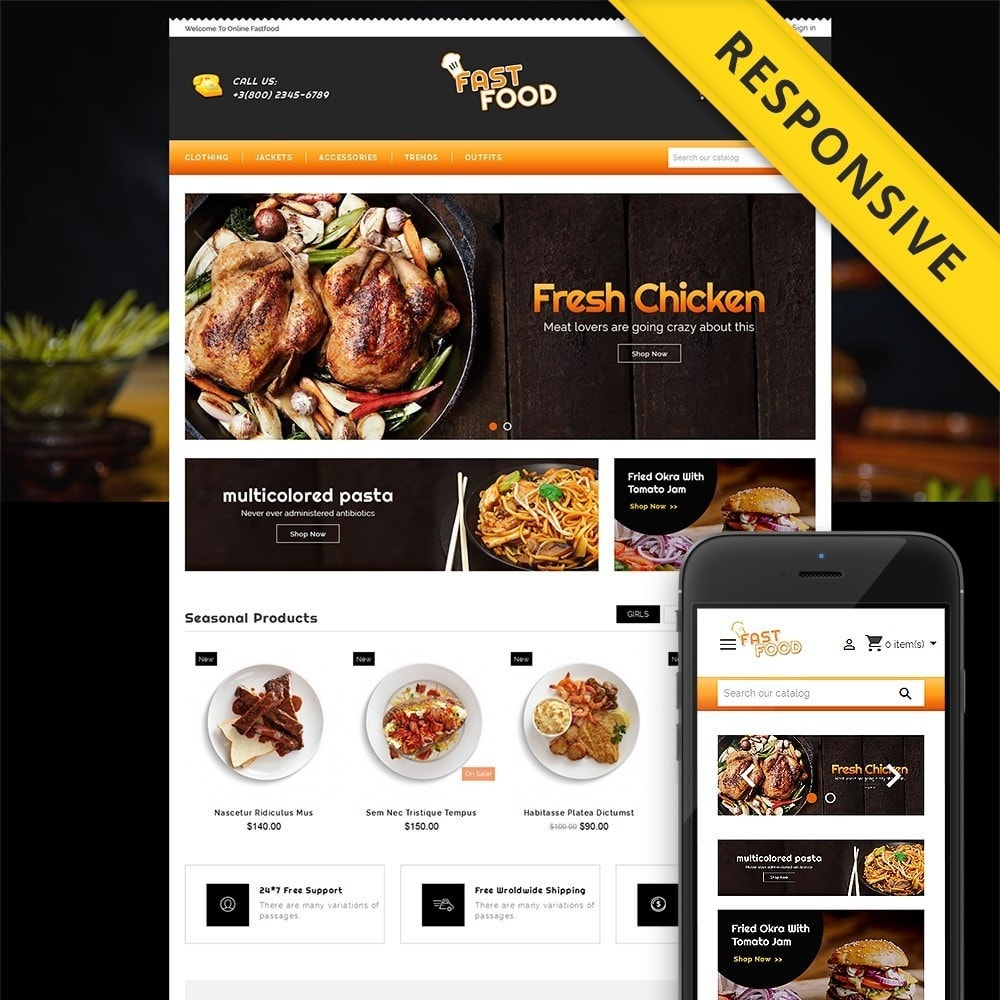 theme - Eten & Restaurant - Fast Food Restaurant Store - 1