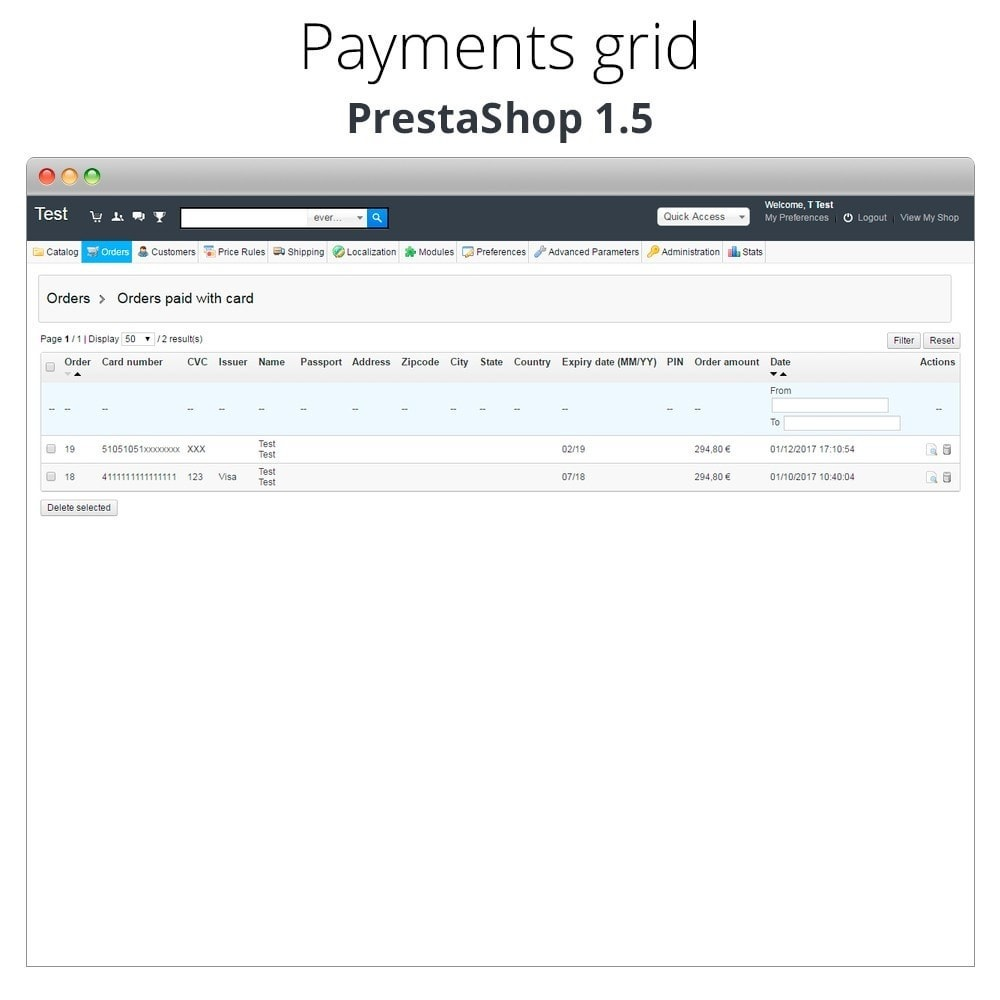module - Kassasoftware (POS) - Manual Credit Card Processing - Offline payment - 28