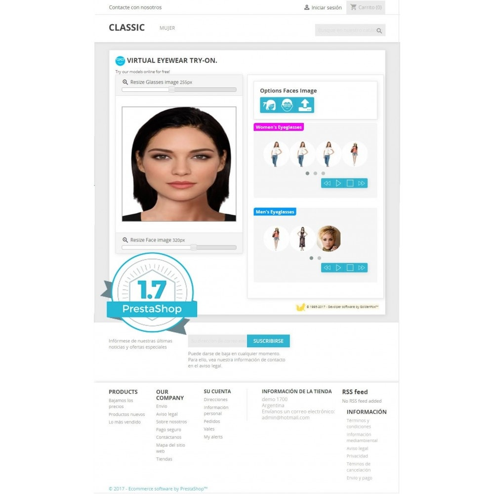 module - Produits virtuels (téléchargeables) - Virtual Try-on Eyeglasses Online - 5
