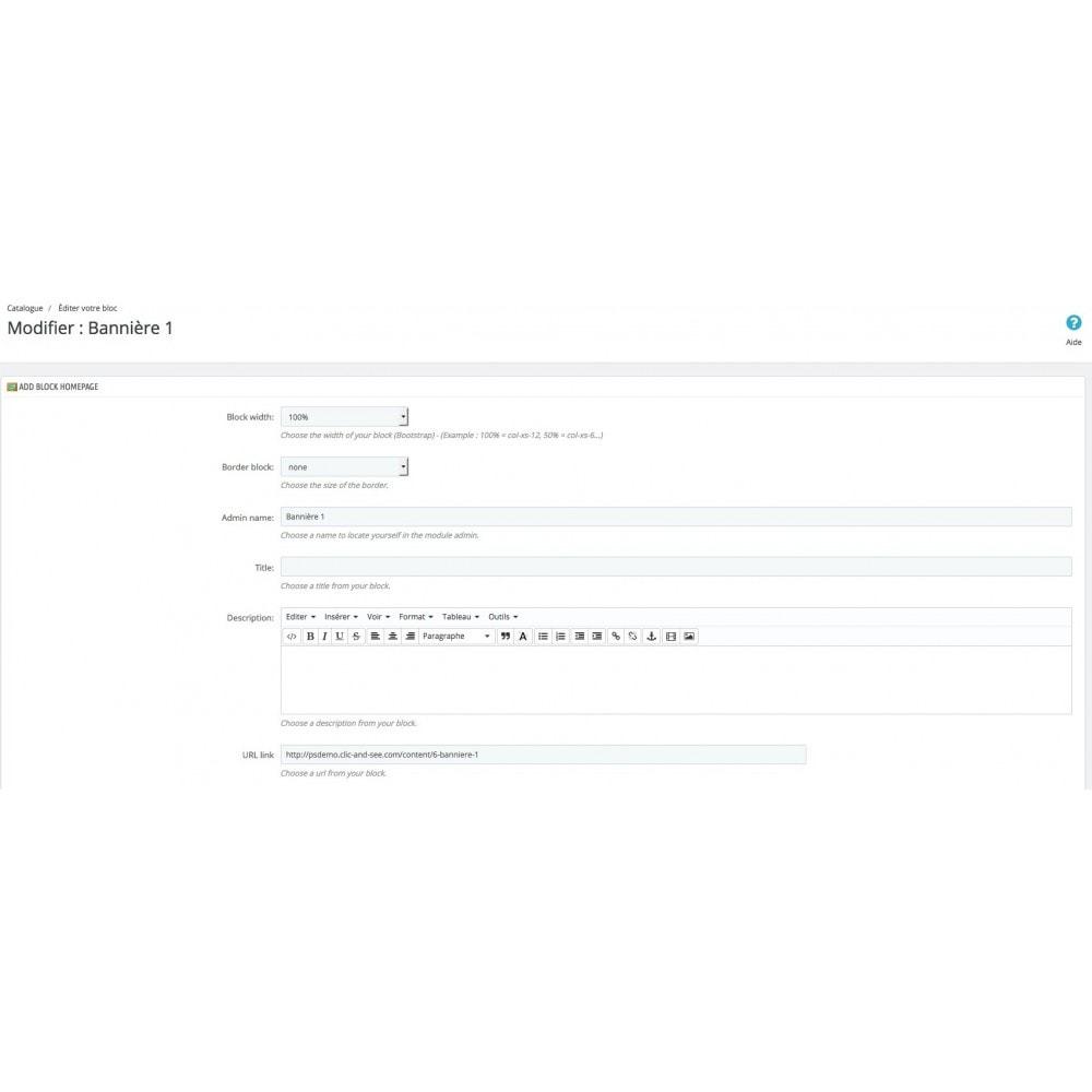 module - Personnalisation de Page - Page d'accueil personnalisée - 8