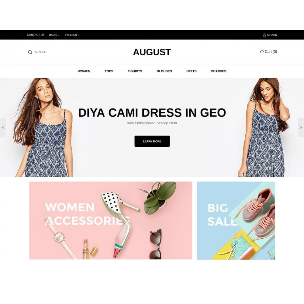 theme - Moda & Calzature - August Fashion Store - 2