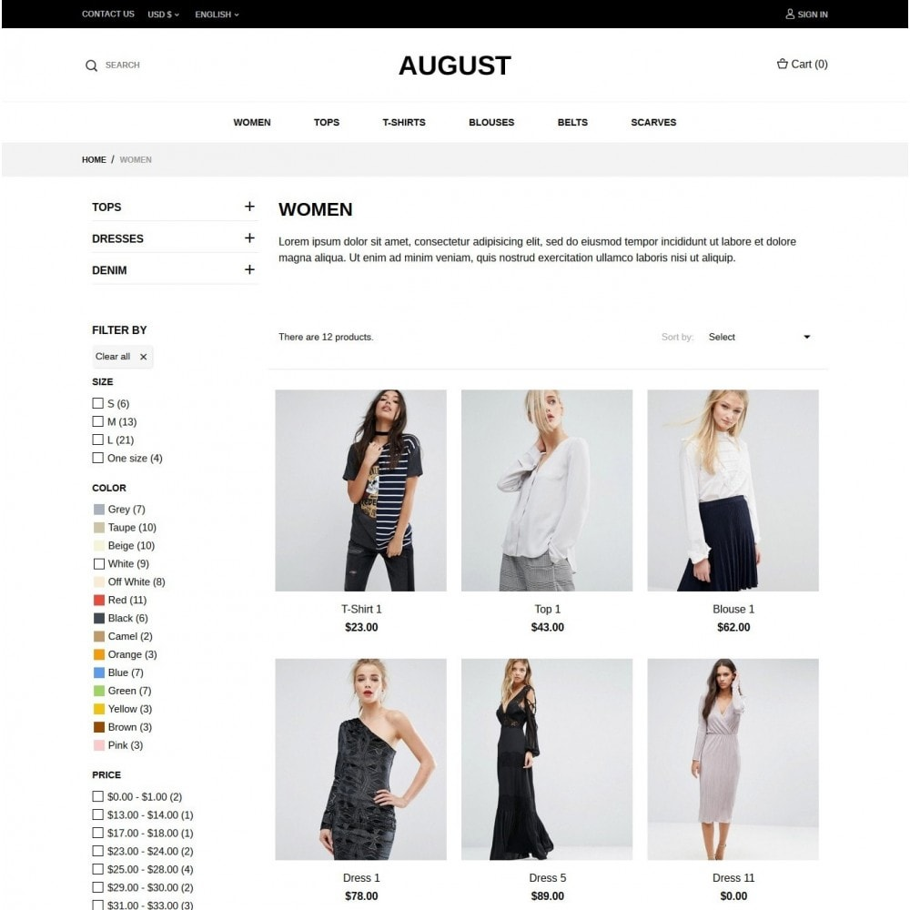 theme - Moda y Calzado - August Fashion Store - 4