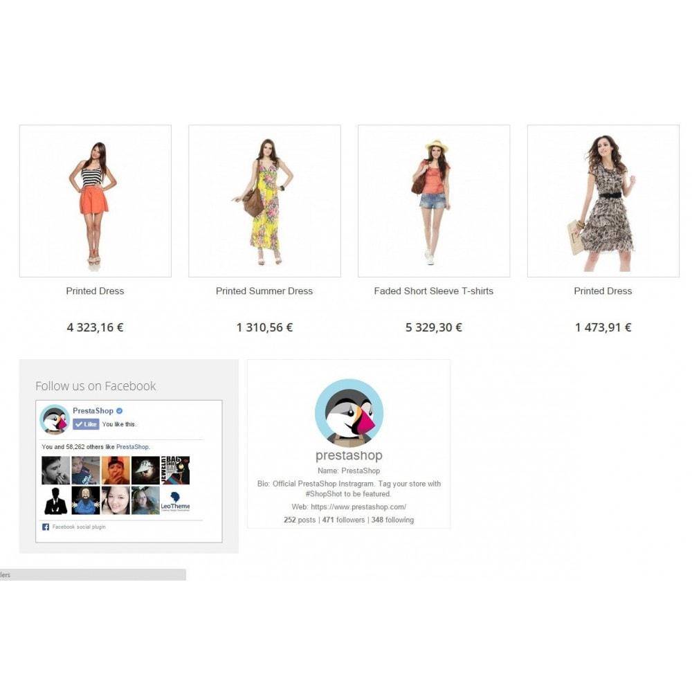 module - Widgets réseaux sociaux - Social Image Feed - 5