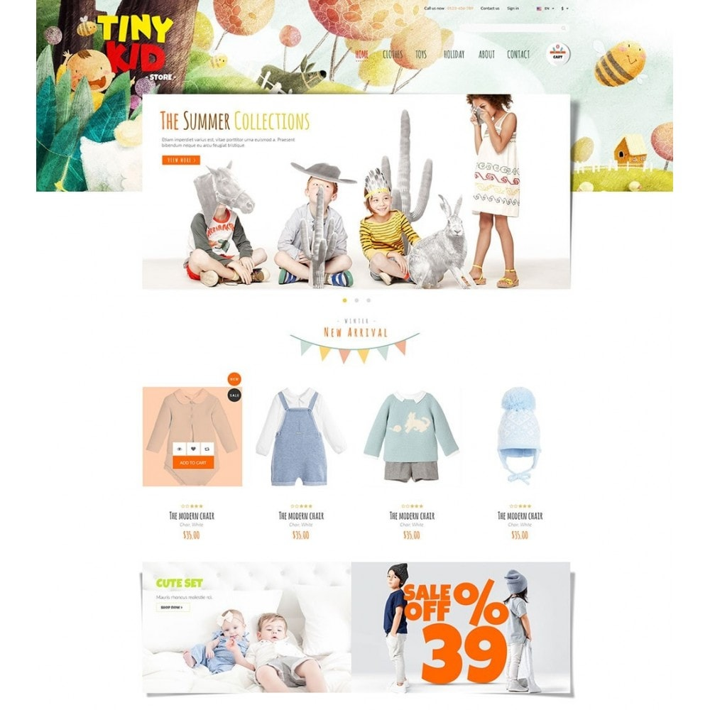 theme - Enfants & Jouets - Tiny Kid - 2