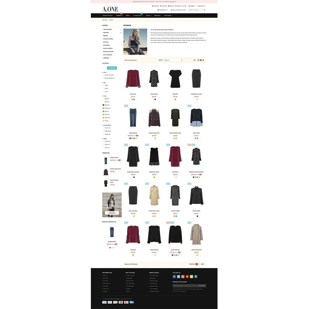 theme - Moda & Calzature - AOne - Fashion Store - 3