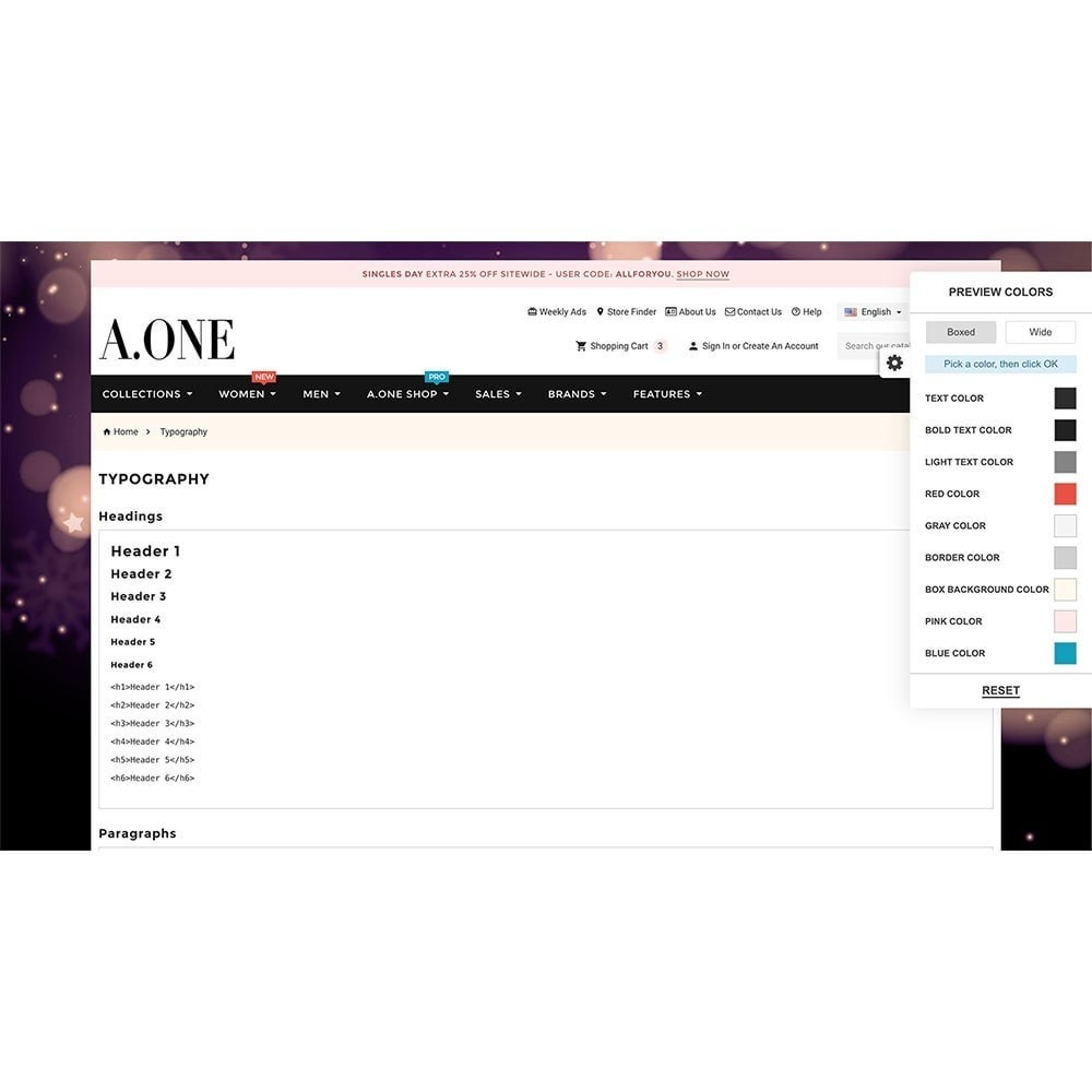 theme - Moda & Calzature - AOne - Fashion Store - 8