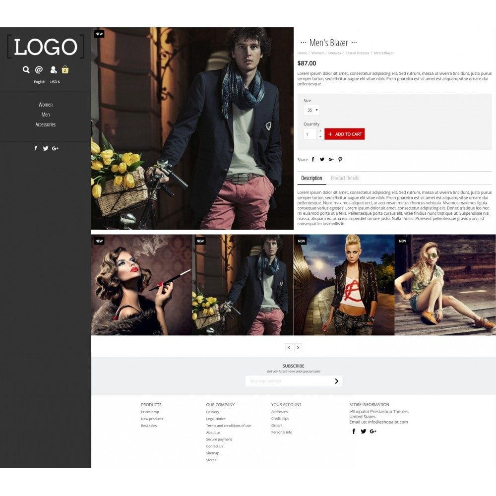 theme - Mode & Schuhe - Alluring Contemporary Fullscreen - 3