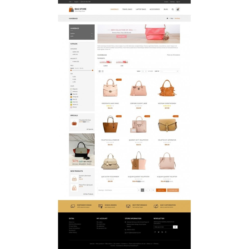 theme - Fashion & Shoes - Bags Store - 3