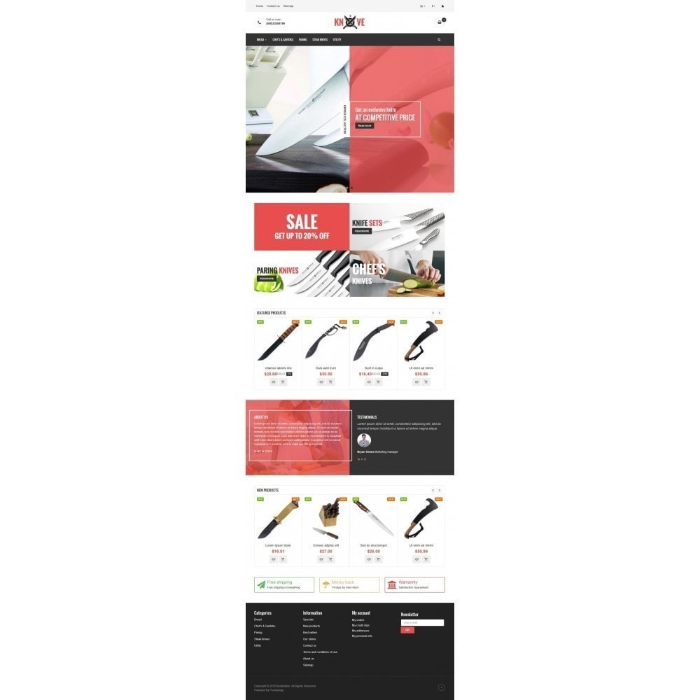 theme - Lebensmittel & Restaurants - VP_Knives Store - 2