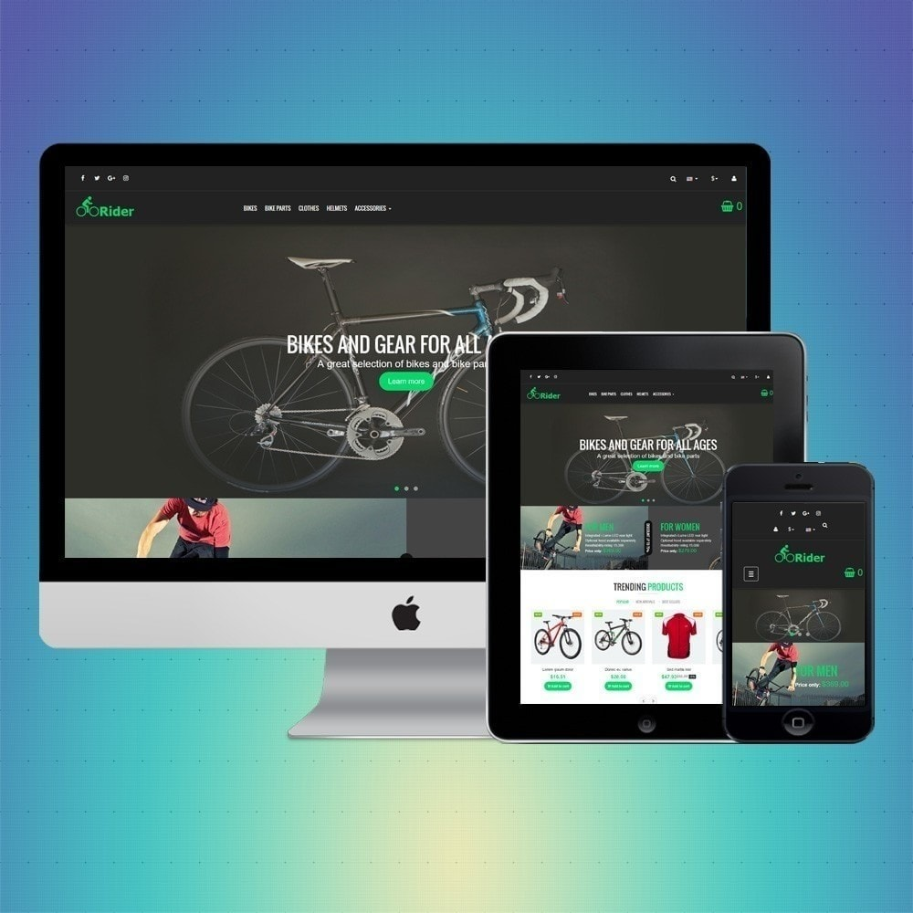 theme - Deportes, Actividades y Viajes - VP_Rider Store - 1