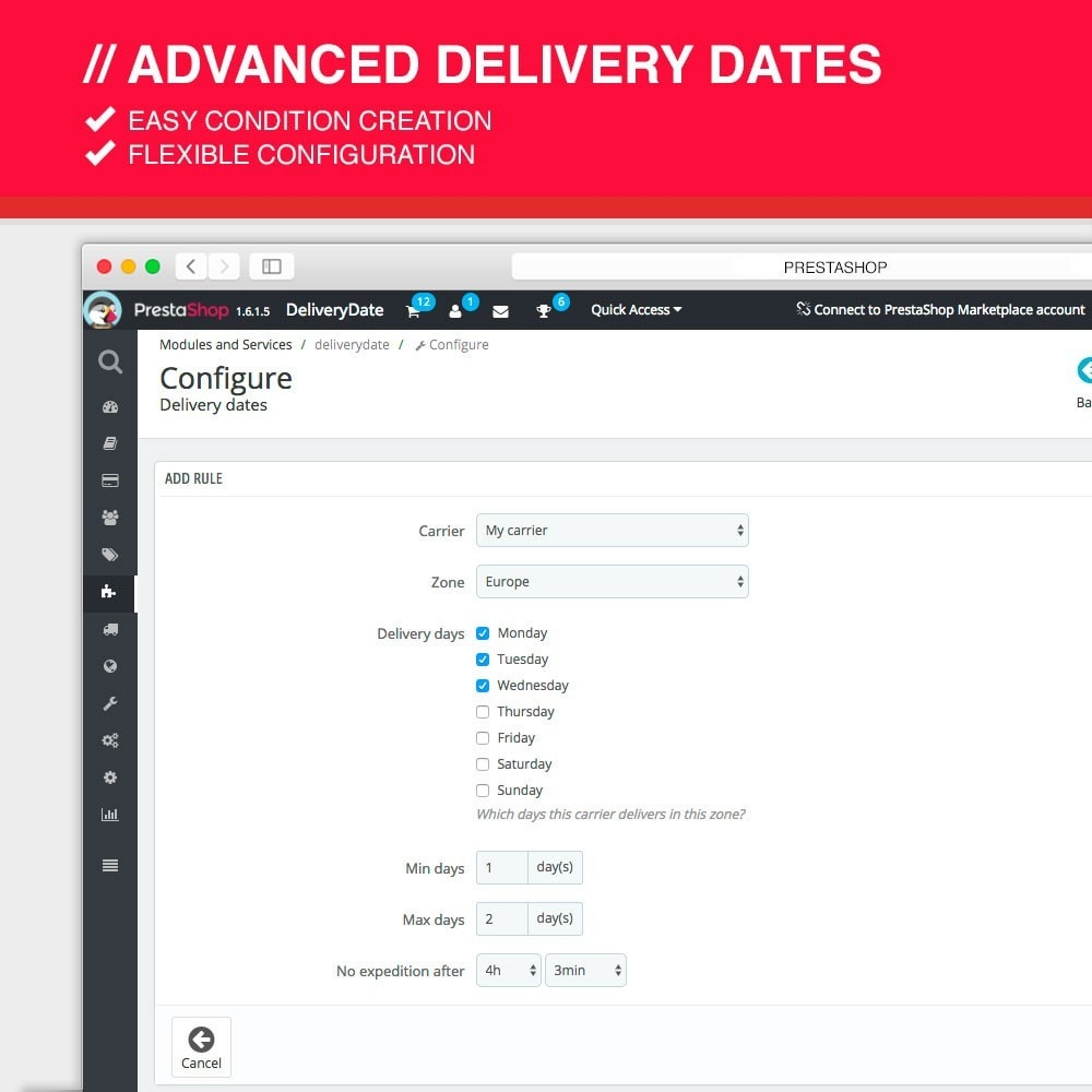 module - Data dostawy - Advanced delivery dates - 4