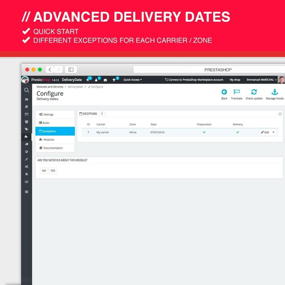module - Leverdatum - Advanced delivery dates - 5