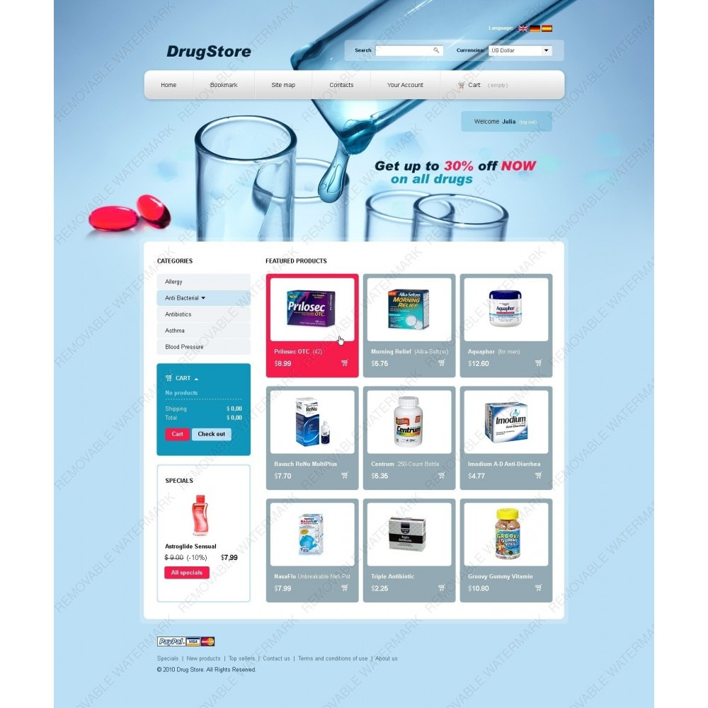 theme - Salud y Belleza - Drugs and Medicines - 3