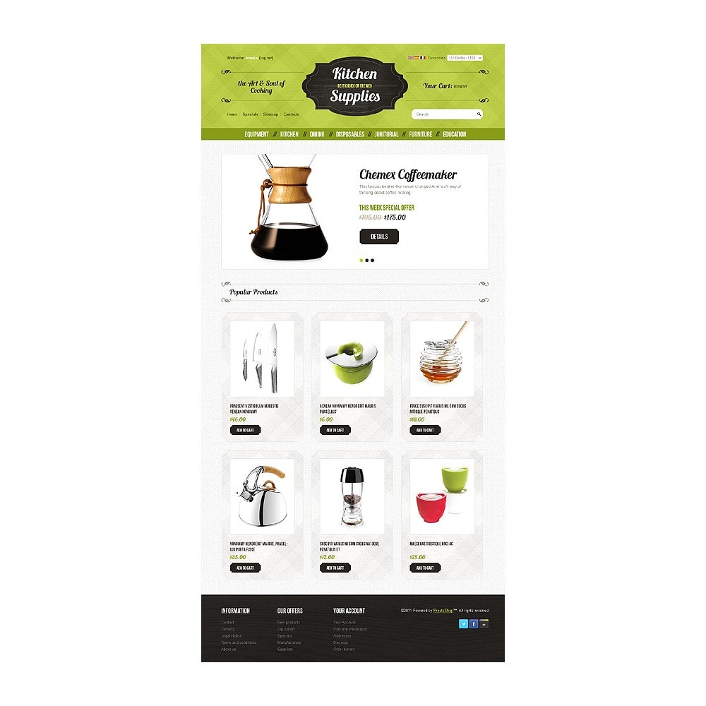 theme - Template PrestaShop - Kitchen and Supplies shop - 1
