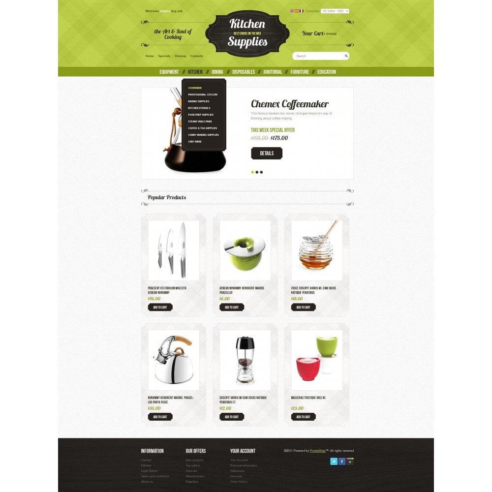 theme - Template PrestaShop - Kitchen and Supplies shop - 7