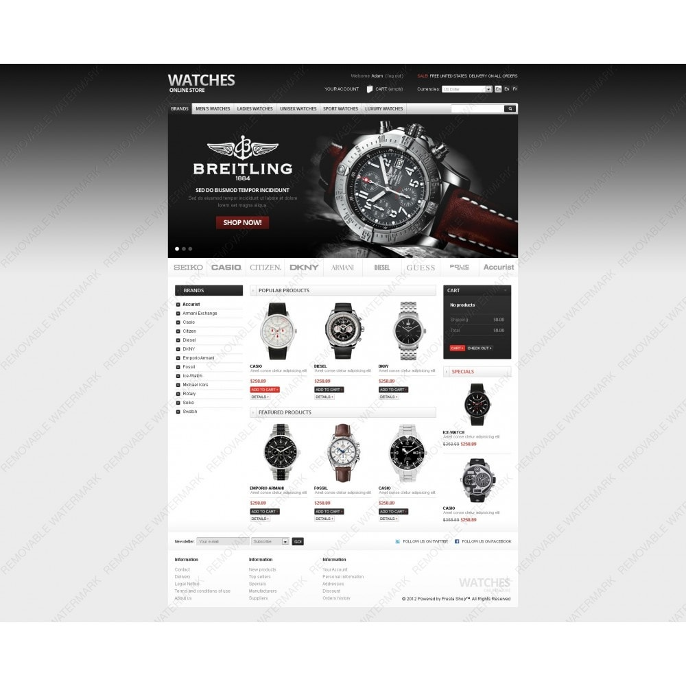 theme - PrestaShop Szablony - Watches Online - 3