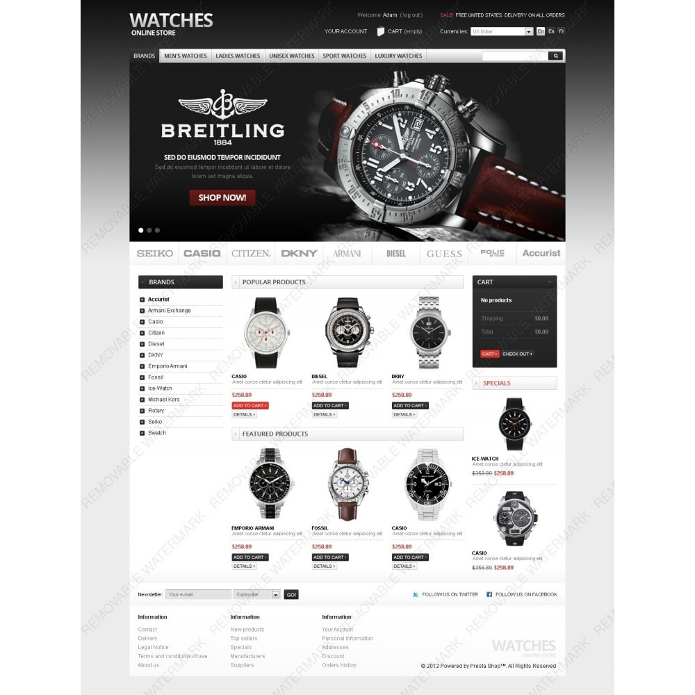 theme - PrestaShop Szablony - Watches Online - 6