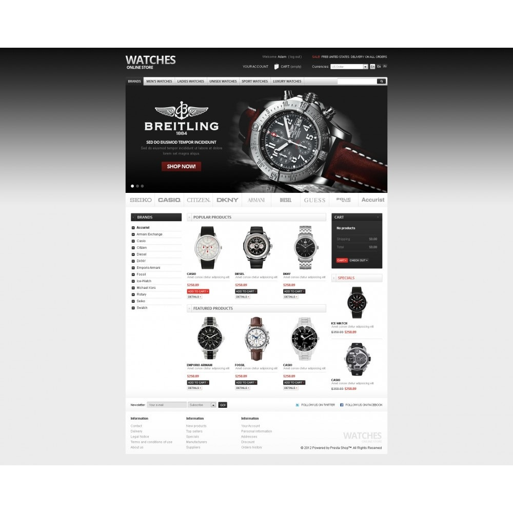 theme - PrestaShop Szablony - Watches Online - 7