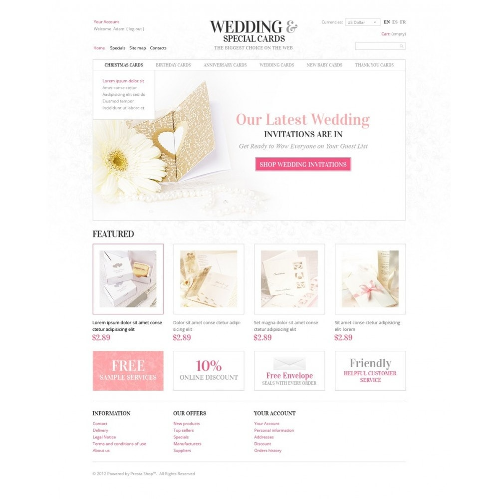 theme - Template PrestaShop - Wedding Invitations - 4