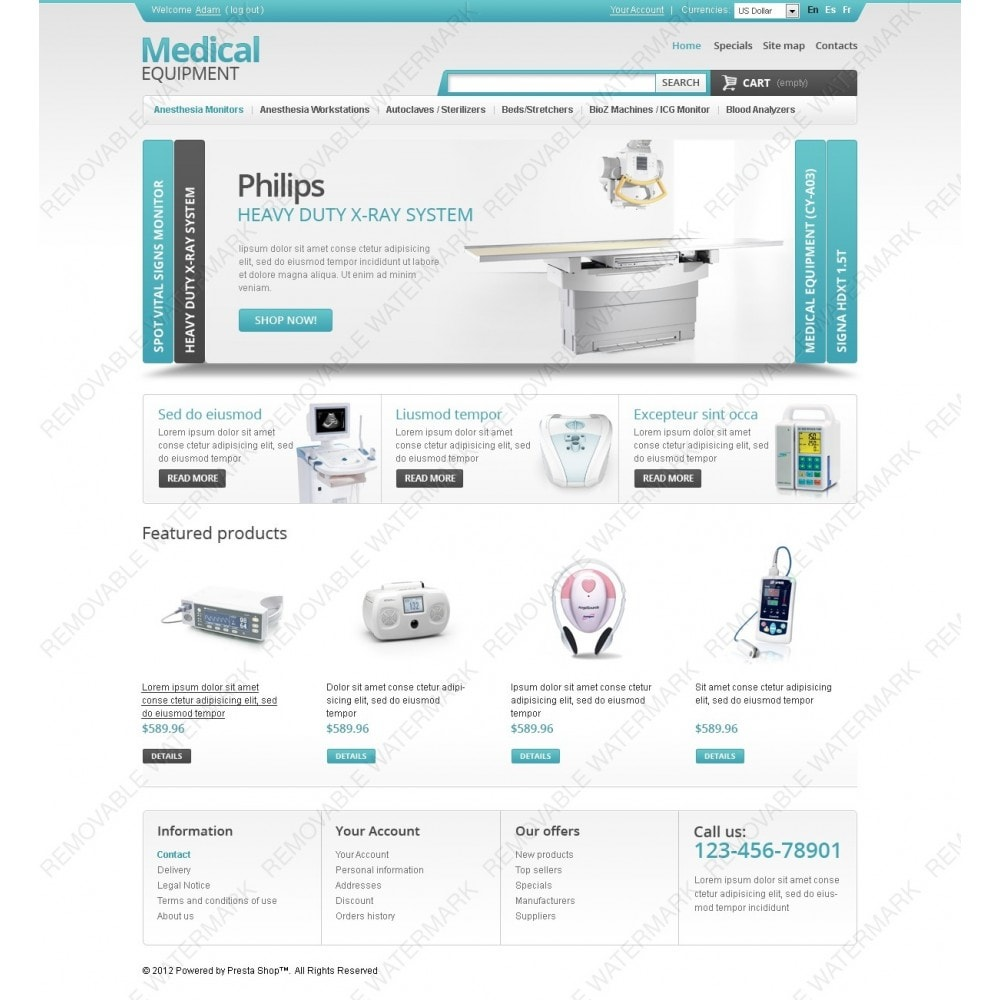 theme - Santé & Beauté - Medical Equipment Store - 6
