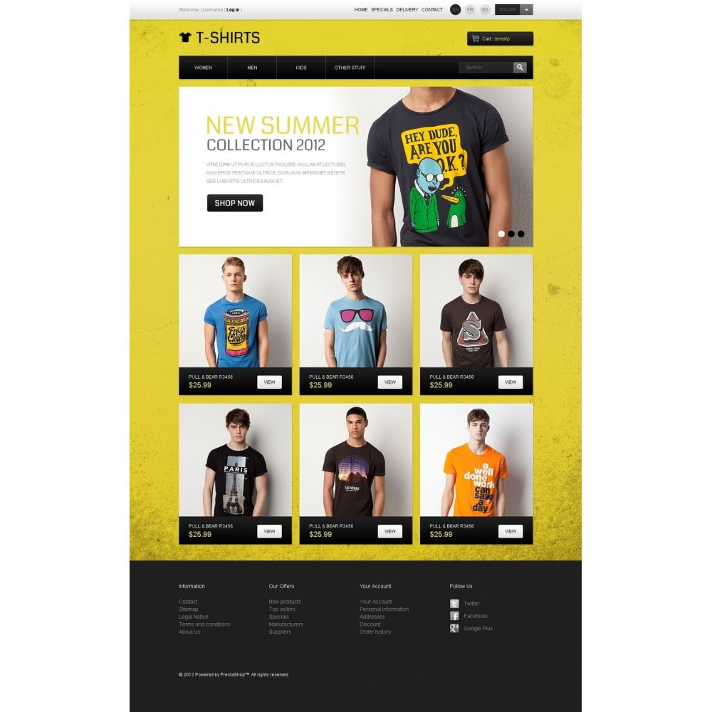 theme - PrestaShop Templates - Funny T-Shirts - 4