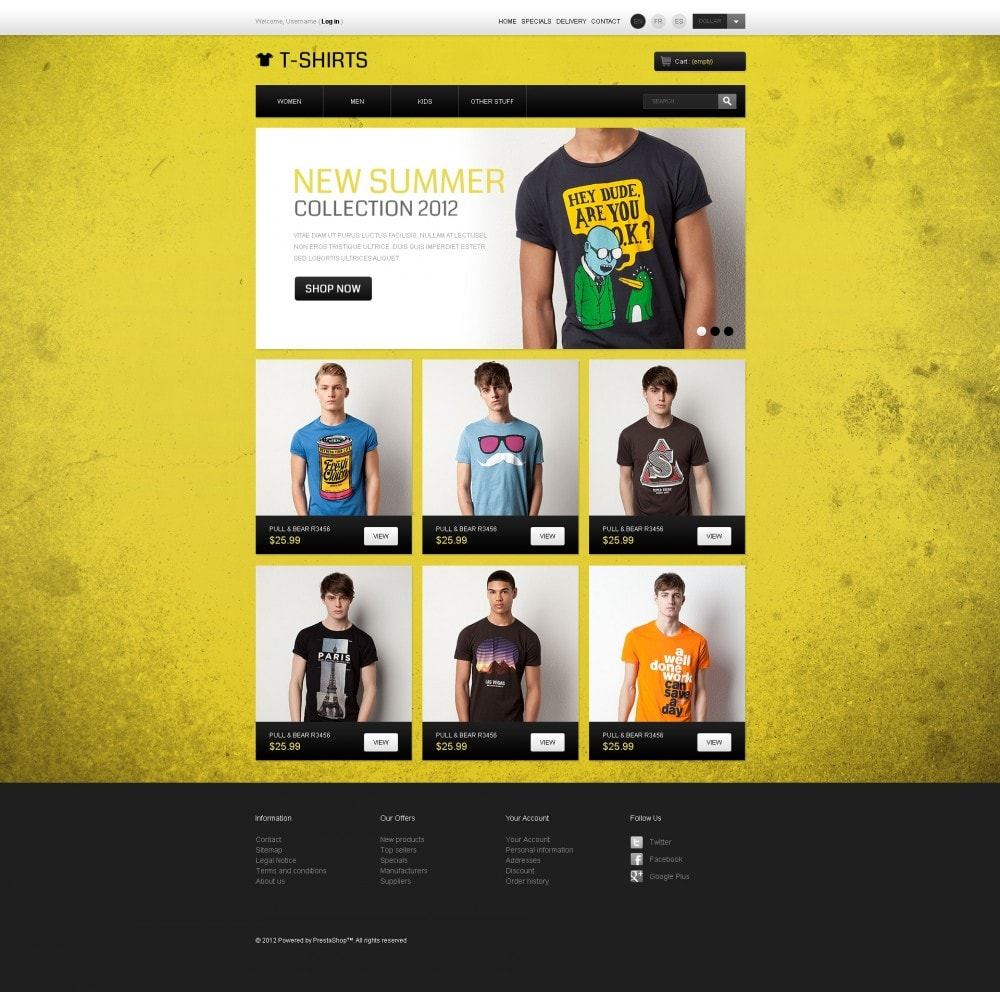 theme - PrestaShop Templates - Funny T-Shirts - 7