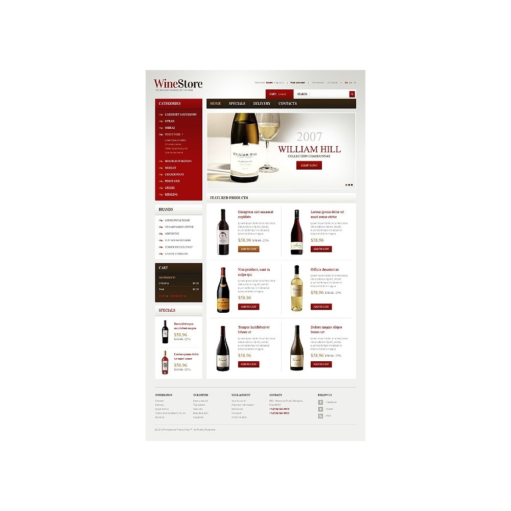 theme - PrestaShop Szablony - Wines for Gourmets - 1