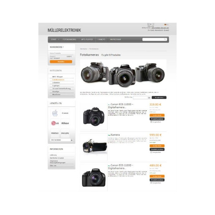 theme - High Tech - Responsive theme: nt544 - Orange Grey - 3