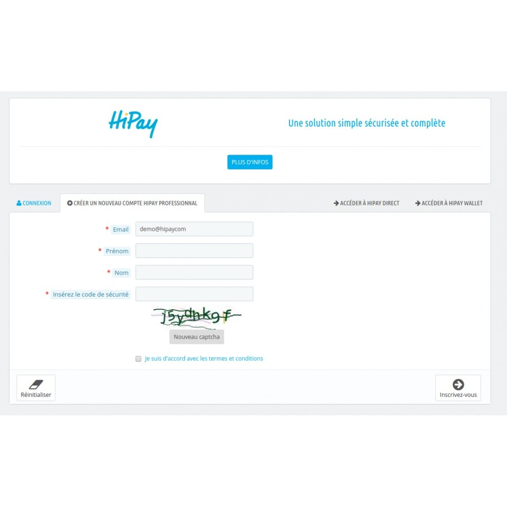 module - Payment by Card or Wallet - HiPay - 3