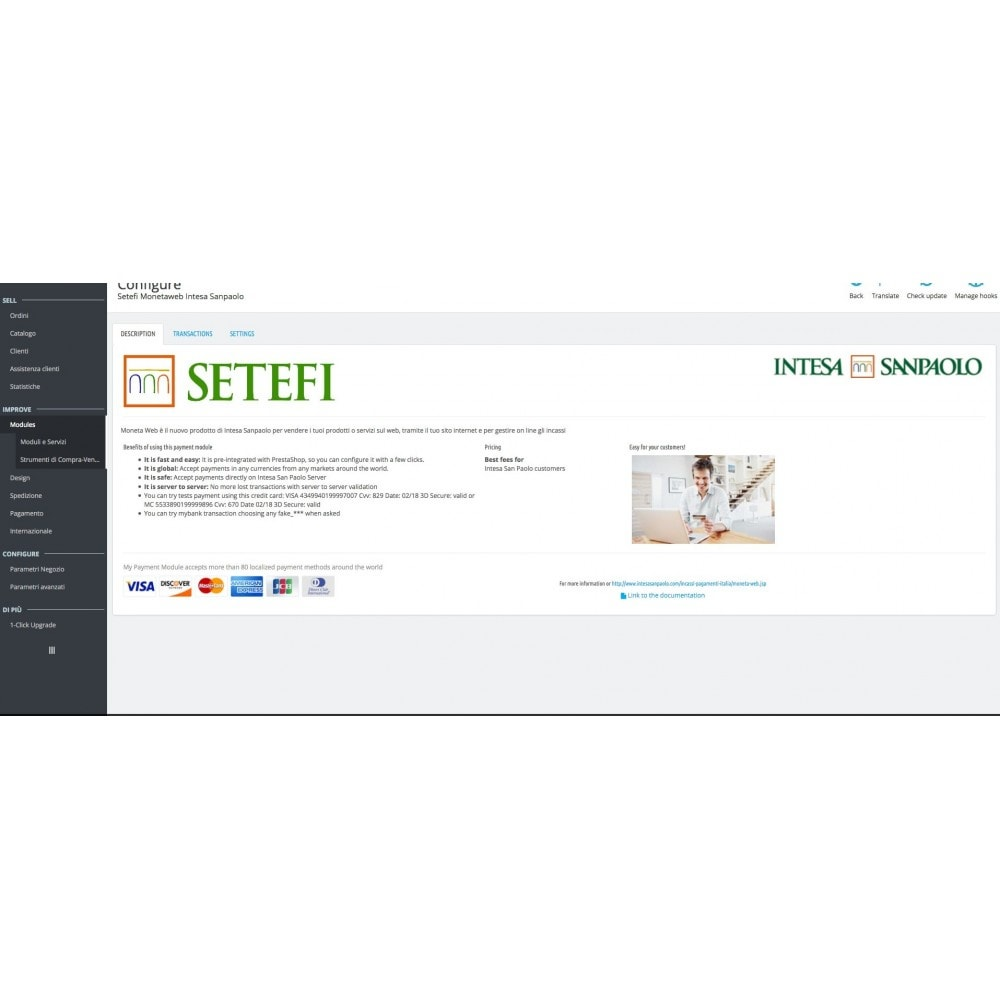 module - Payment by Card or Wallet - Intesa Sanpaolo Setefi Monetaweb Credit Cards - 5