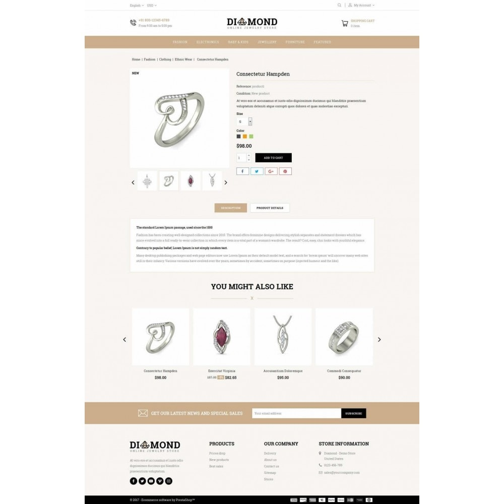 theme - Bellezza & Gioielli - Diamond Jewelry Store - 5