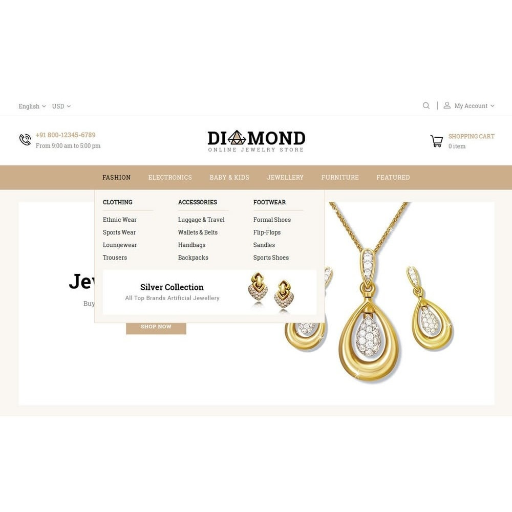 theme - Jewelry & Accessories - Diamond Jewelry Store - 7