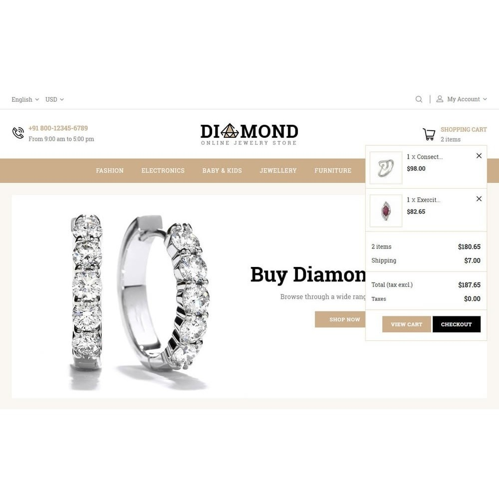 theme - Jewelry & Accessories - Diamond Jewelry Store - 9