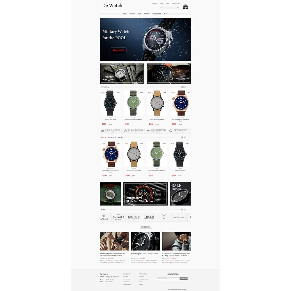 theme - Jewelry & Accessories - De Watche - Watches and Accessories Store. - 2