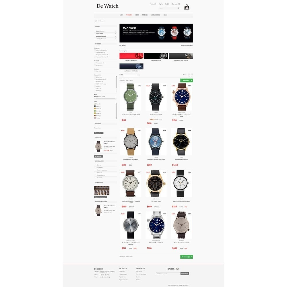 De Watche - Watches and Accessories Store.