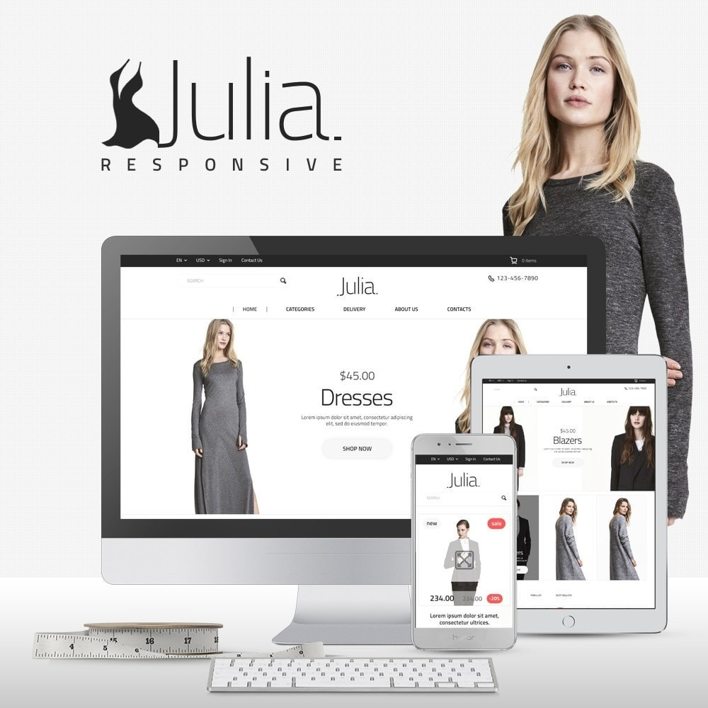 theme - Mode & Schuhe - Julia Fashion Store - 1
