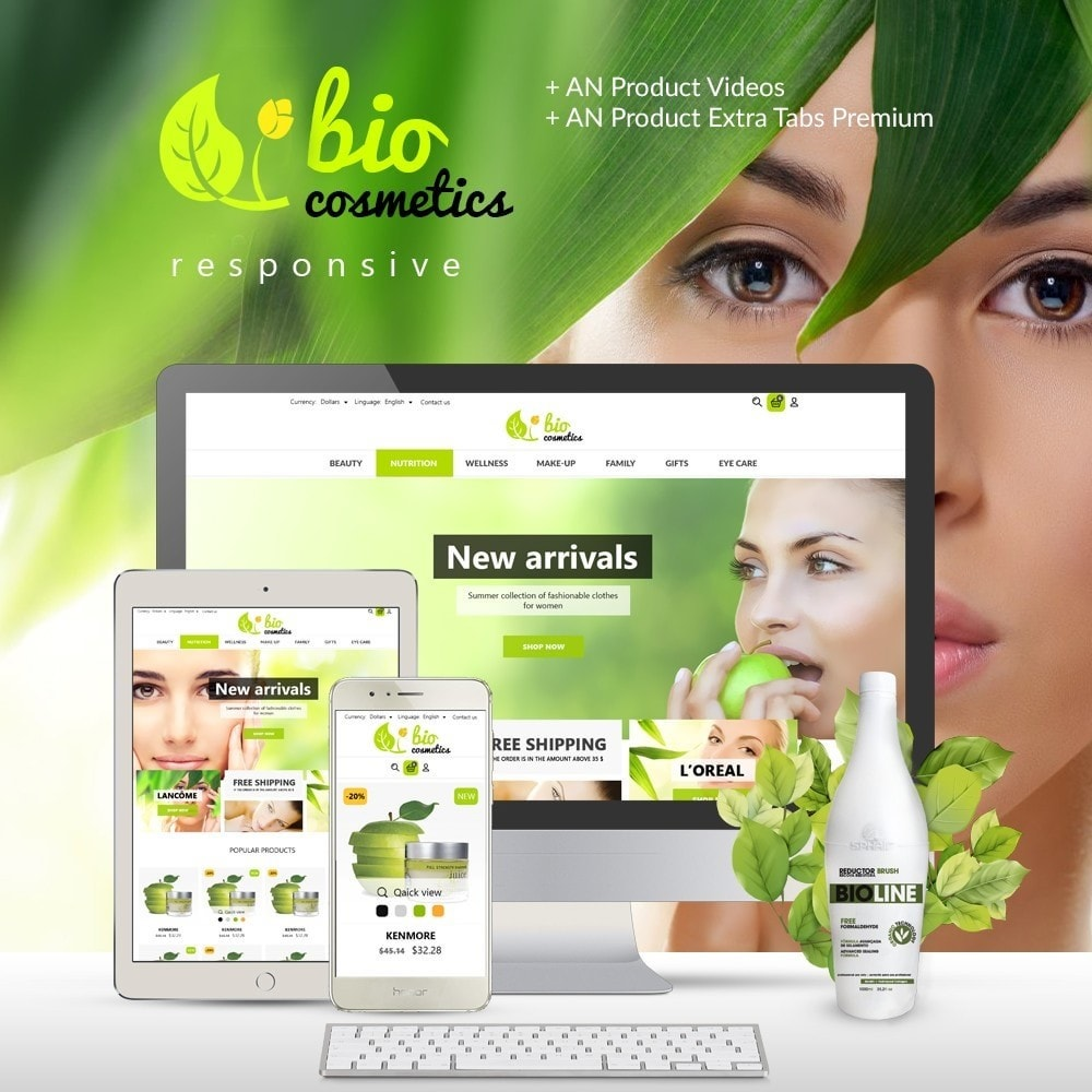 theme - Saúde & Beleza - BioCosmetics - 1