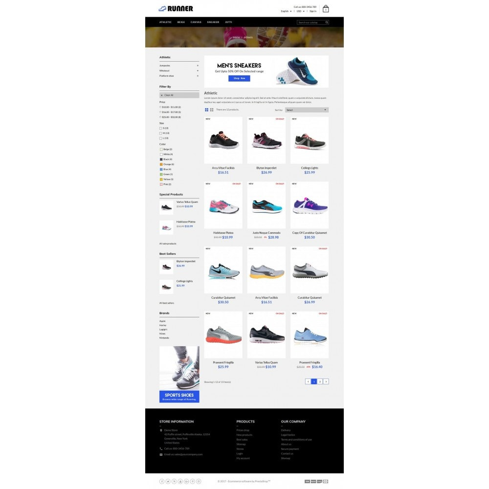 theme - Мода и обувь - Runner Shoes Store - 3