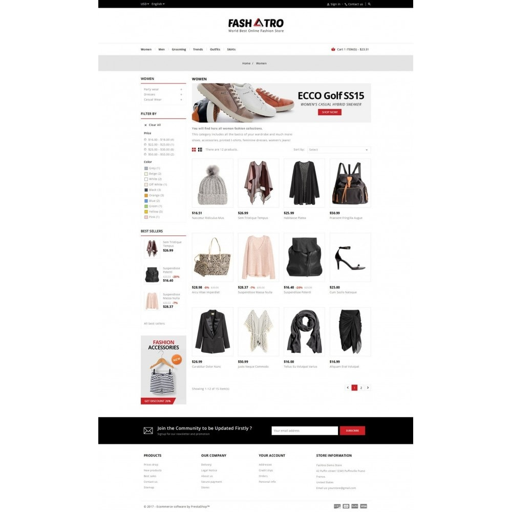 theme - Fashion & Shoes - Fashtro - Online Fashion Store - 3