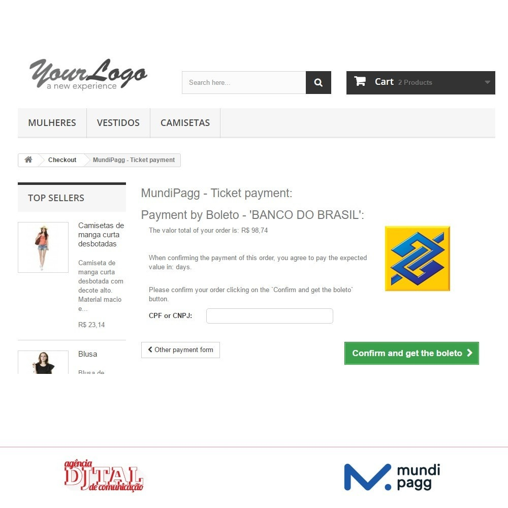 module - Payment by Card or Wallet - Mundipagg - 4