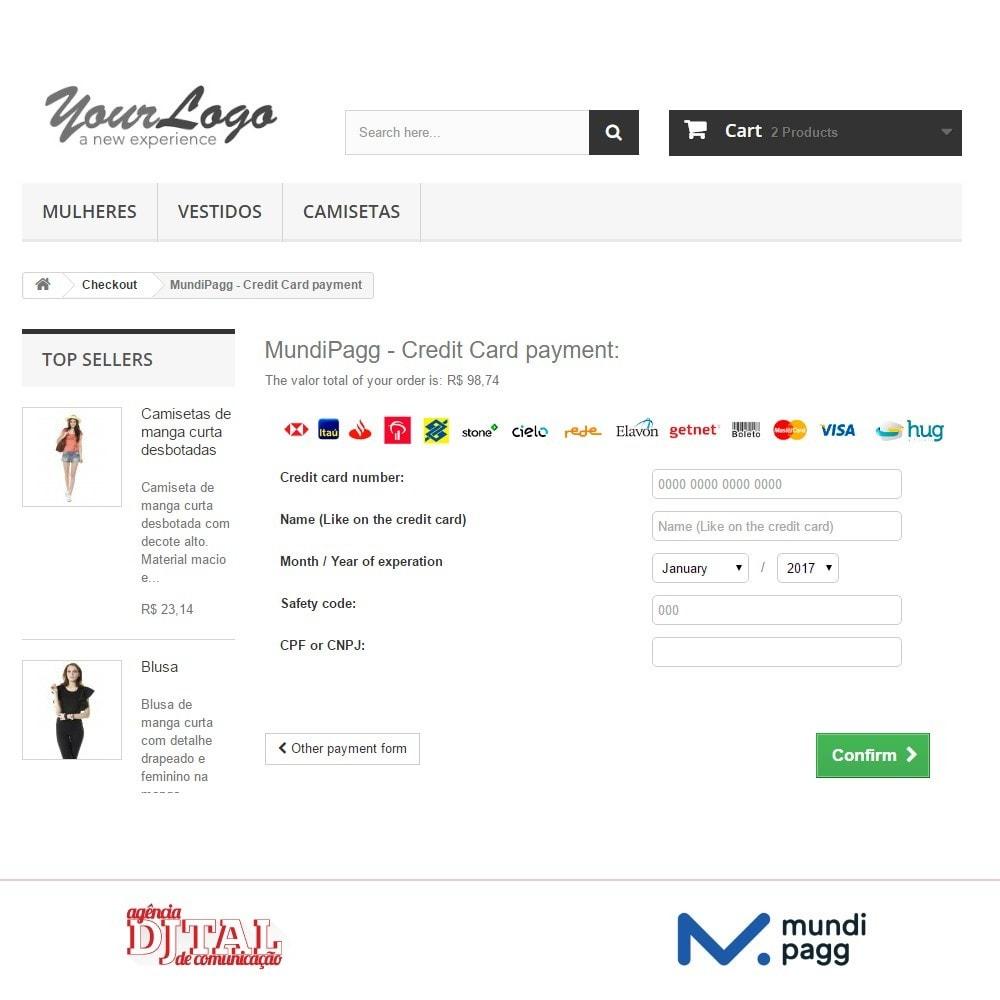 module - Pagamento con Carta di Credito o Wallet - Mundipagg - 5
