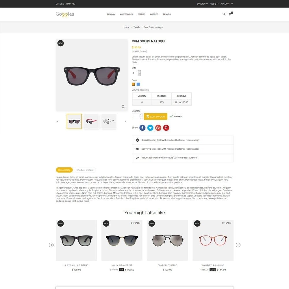 theme - Fashion & Shoes - Goggles Store - 5