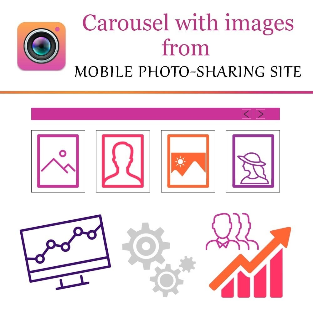 module - Sliders & Galleries - Inst Carousel with Images from photo-sharing site - 1