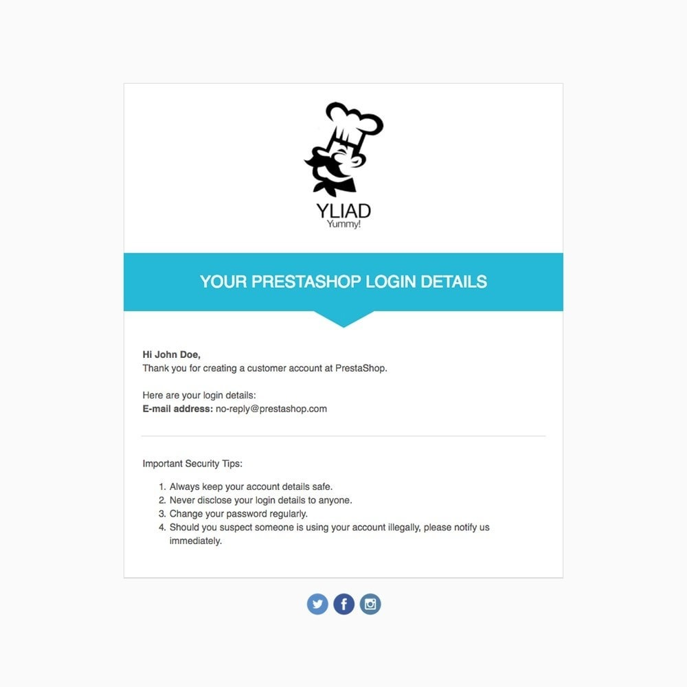 Yliad - Template d'emails
