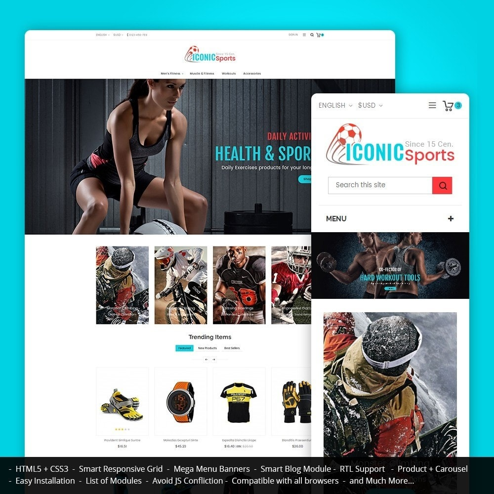 theme - Deportes, Actividades y Viajes - Iconic Sports Store - 1