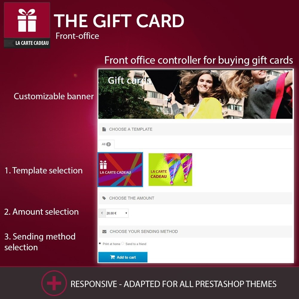 module - Whishlist & Gift Card - The Gift Card - 1