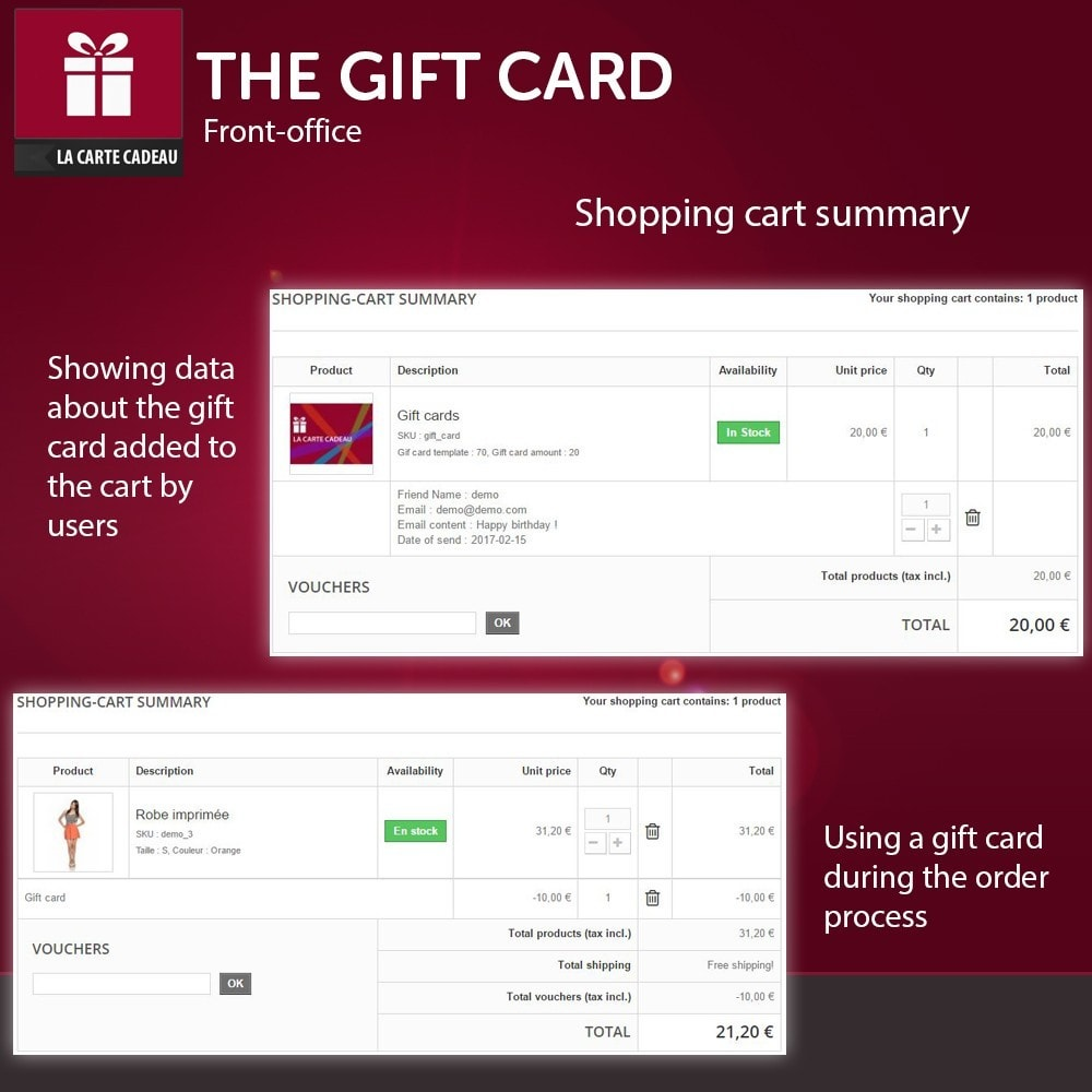module - Whishlist & Gift Card - The Gift Card - 3