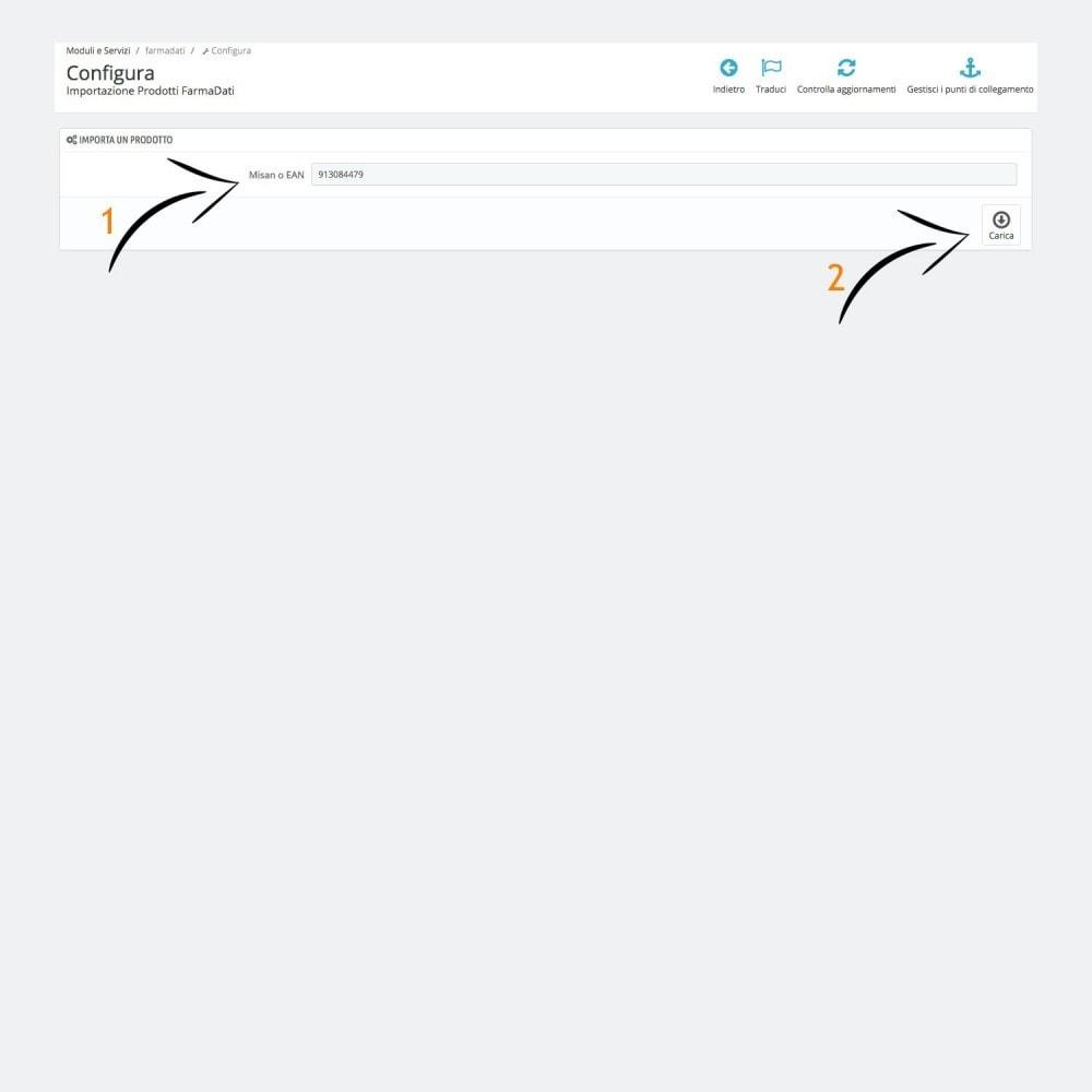 module - Data Import & Export - Importazione FarmaDati - Prodotto singolo - 2